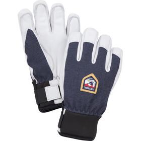 Hestra Army Leather Patrol 5 Finger Gloves Kids, biały/niebieski